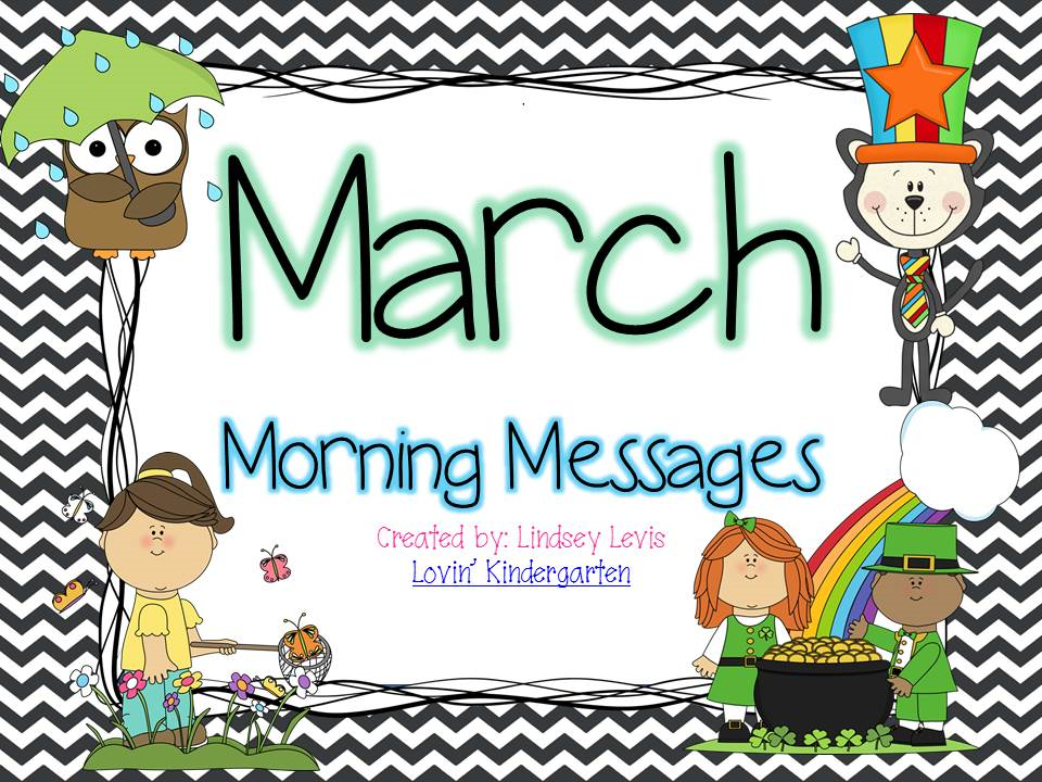 http://www.teacherspayteachers.com/Product/March-Morning-Messages-Bundle-1090027