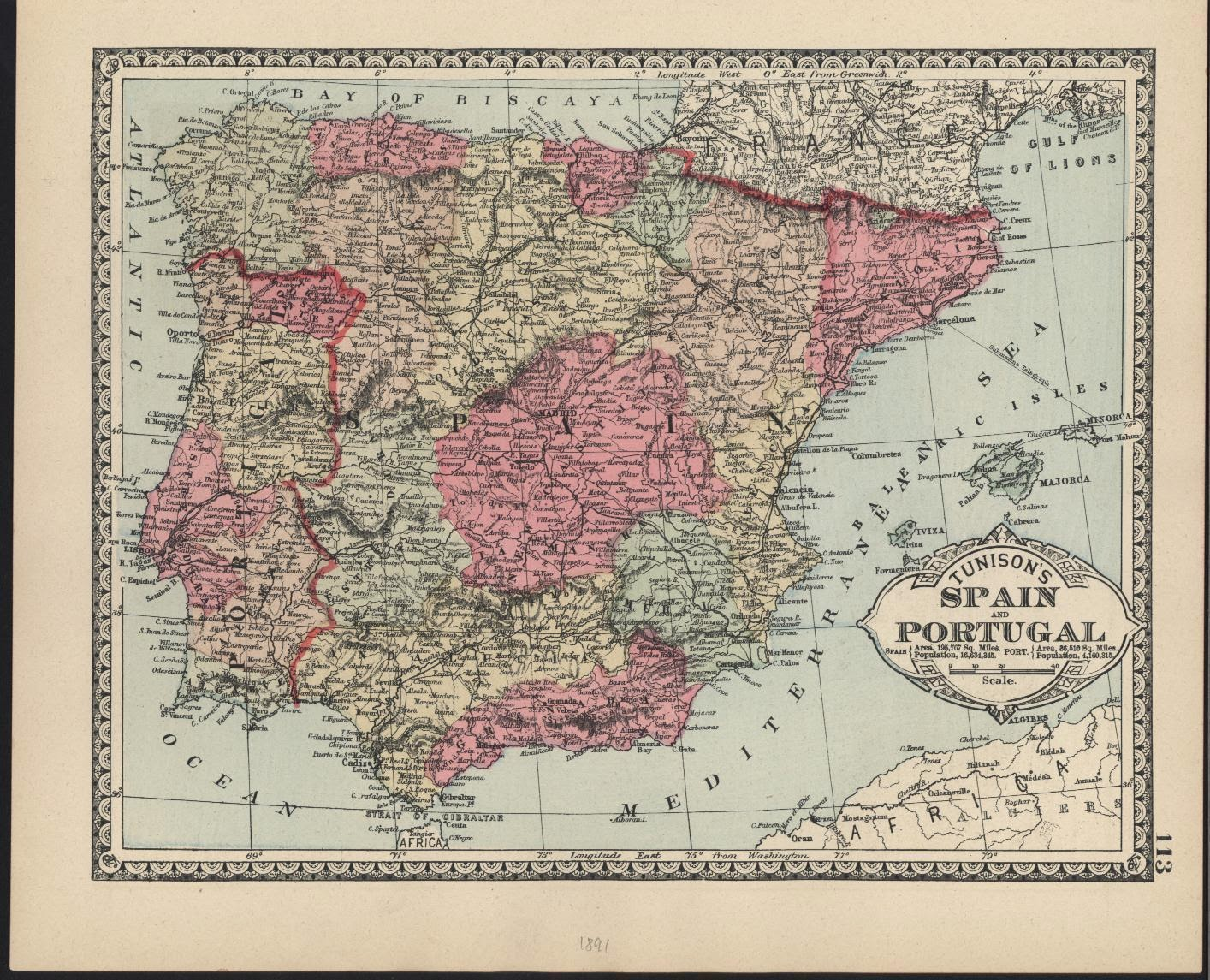 España y Portugal 1891 Henry Tunison