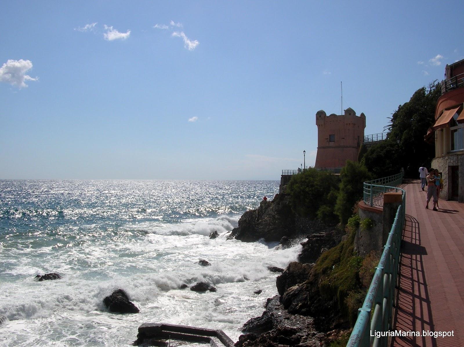 Liguriamarina quarto dei mille nervi e pieve ligure for Indipendenza del piano di cabina del mare