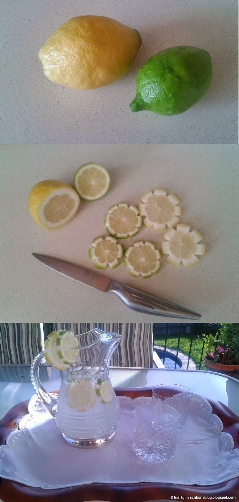 Agua de limón con flores de limón