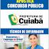 Apostila Prefeitura de Cuiabá-MT 2014 - Técnico de Enfermagem