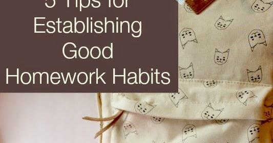 Good homework habits