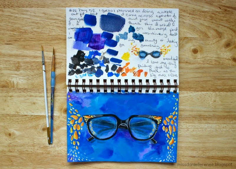 Danielle's painting journal