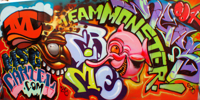 Miami Graffiti HD Letters Wall By Team Monster