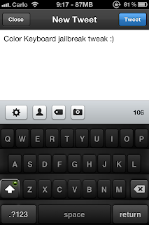 Color Keyboard Tweak Screenshot