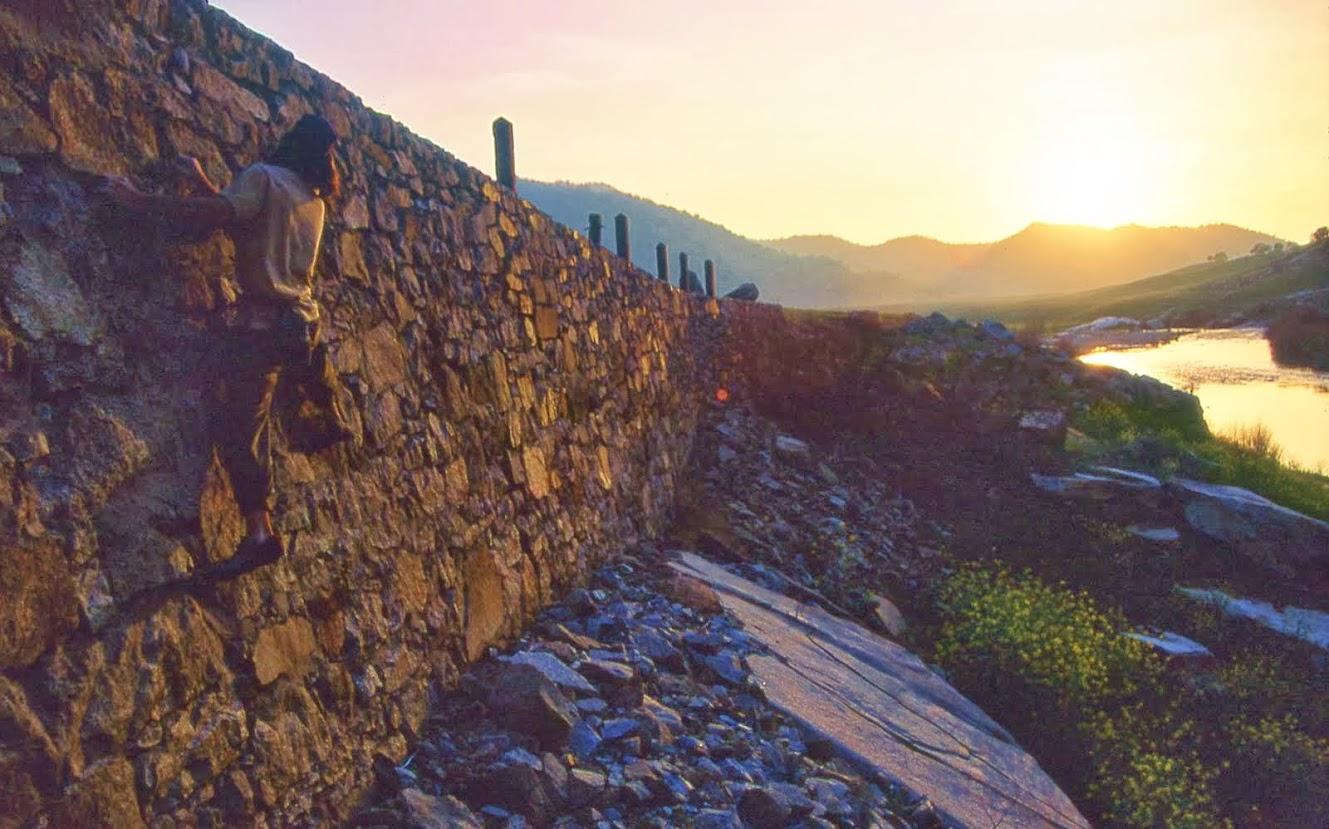 Traversing Wall at the Lake