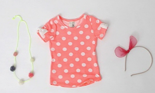 Baby Short Sleeve Dotted Shirt