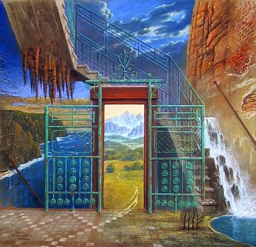 11-The-Lift-Marcin-Kołpanowicz-Paintings-of-Creative-Surreal-Worlds-ready-to-Explore-www-designstack-co