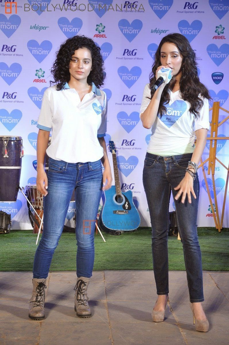 Kangana Ranaut, Shraddha Kapoor at P&G thank you mom event in Bandra