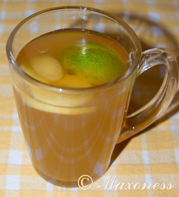 Чай с имбирем, лаймом и медом