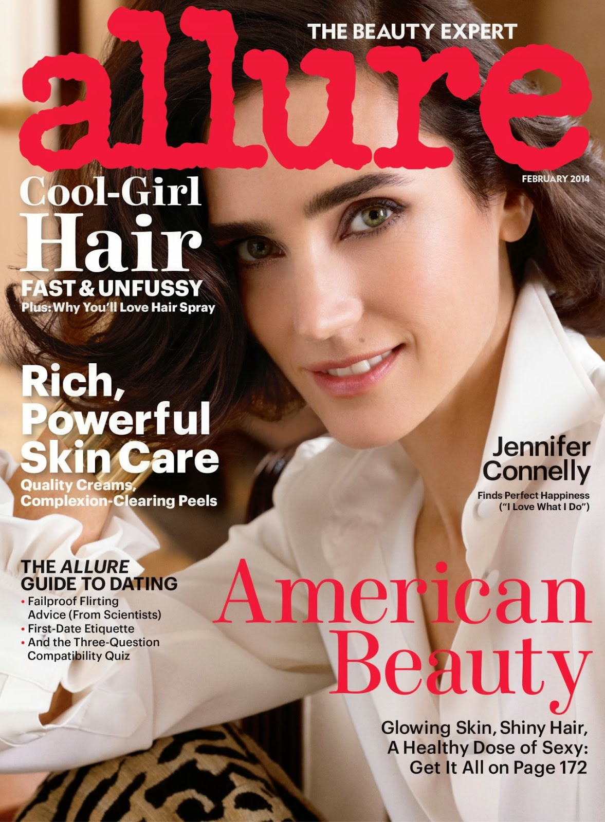 Magazine Photoshoot : Jennifer Connelly Photoshot For Allure Magazine February 2014 Issue
