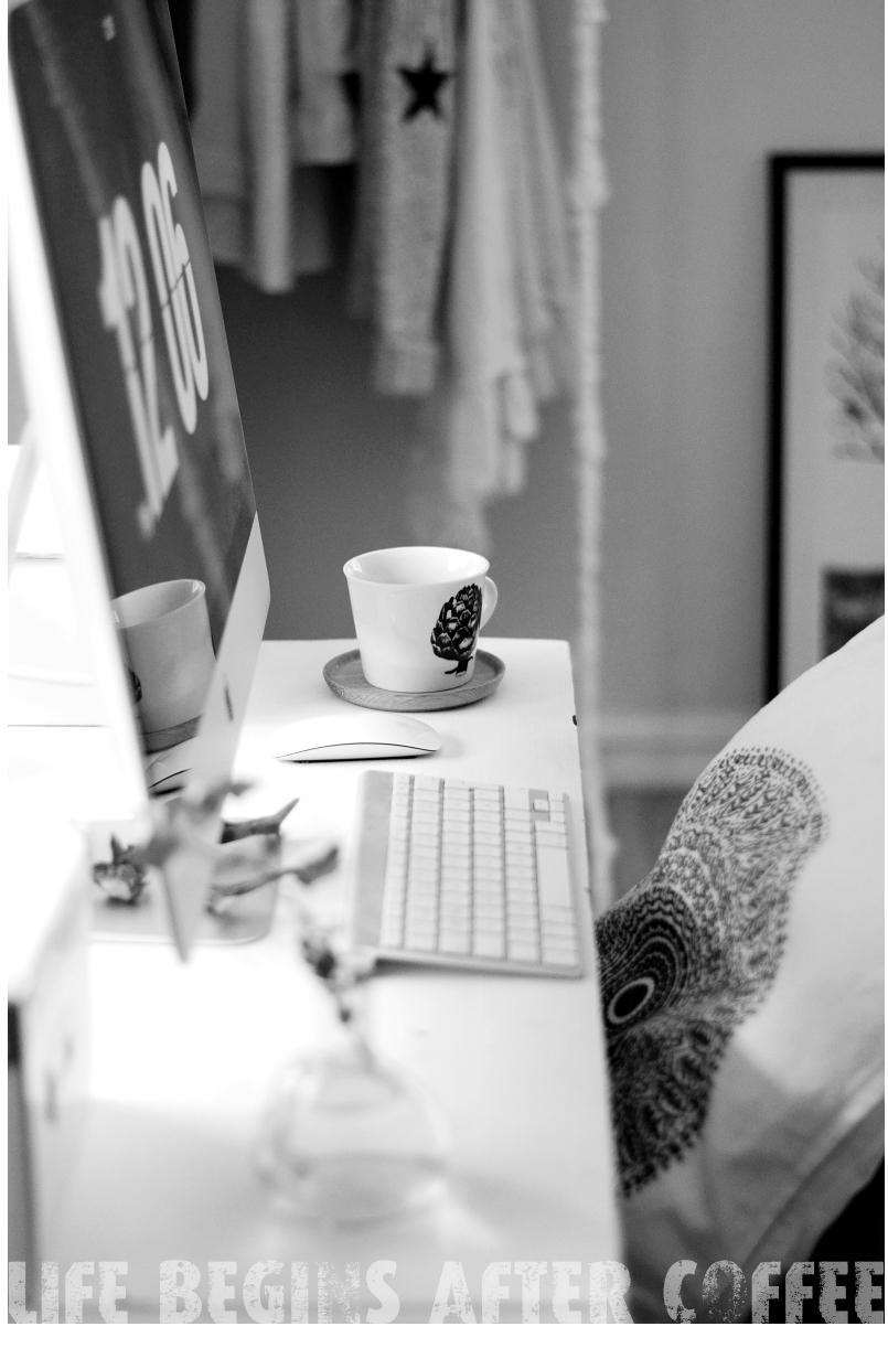 kaffe, kaffemugg, grafiskt, kronärtskocka