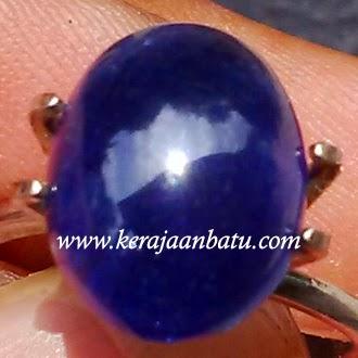 Batu Permata Blue Safir Cabochon
