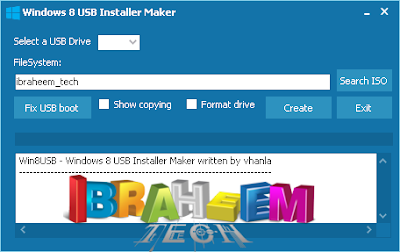 Windows 8 USB Installer Maker