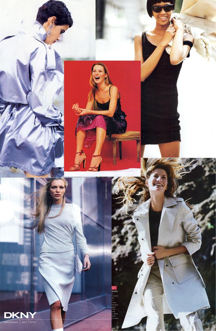 DKNY in editorials 1990