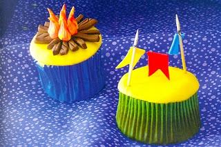 Cupcake festa junina com fogueira Junina