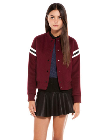 High school chaqueta Bershka