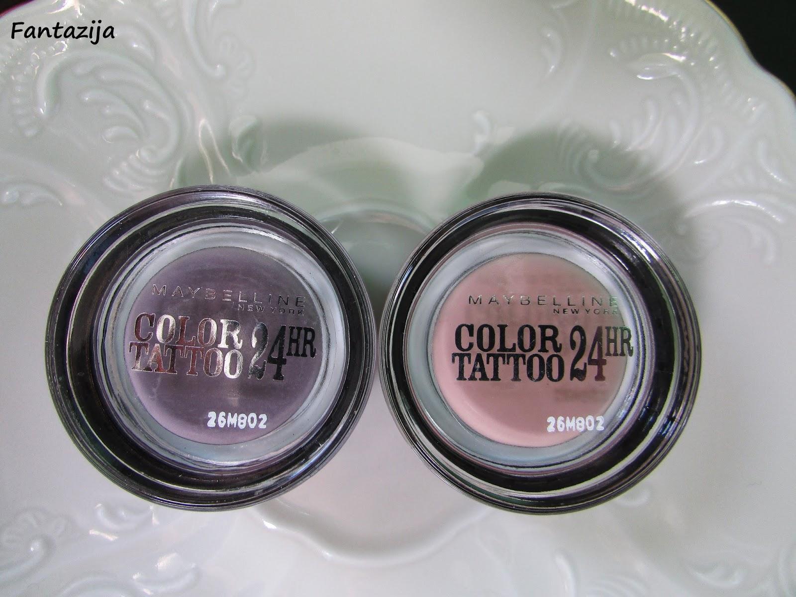 Fantazija maybelline color tattoo creamy mattes creme for Maybelline color tattoo creme de nude