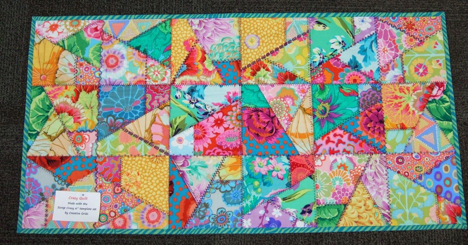 Crazy Quilt Pattern Fabric : Glad Creations Quilts: Scrap Crazy 6