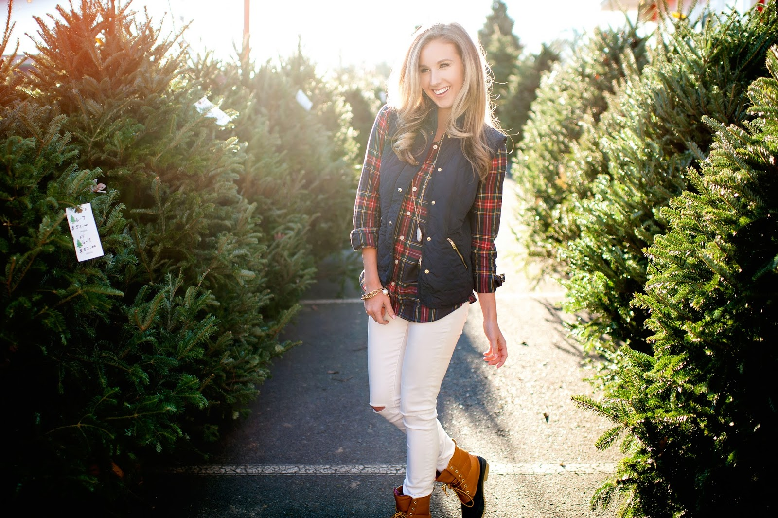 navy-and-red-plaid-with-white-pants-for-winter
