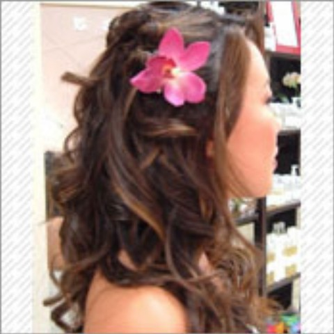 Curly Half Up Half Down Prom Hairstyles