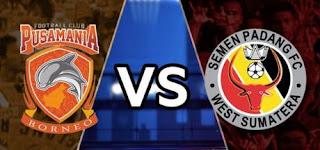 Pusamania Borneo FC Menang 2-0 atas Semen Padang