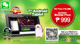 """Lazada offers 7"""" Android Tablet for only Php999 exclusive to WeChat users"""