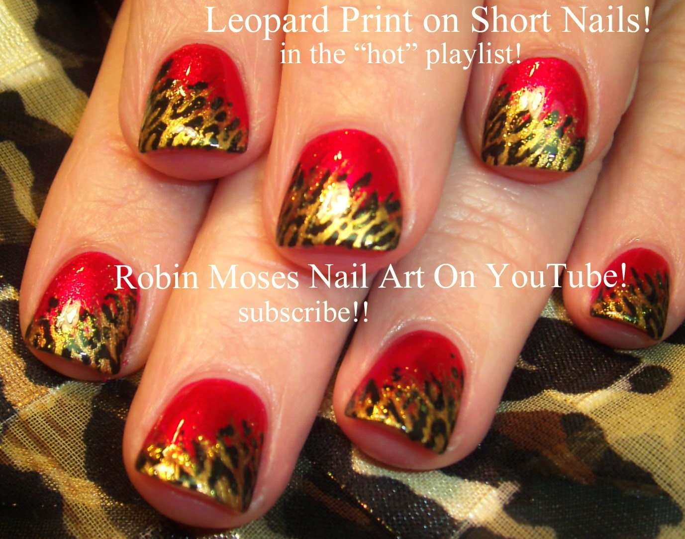 Nail Art By Robin Moses Leopard Print Nails Short Animal Print