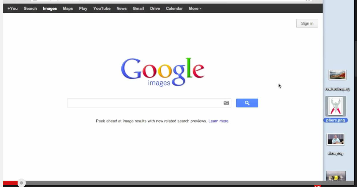teach students to effectively search google image using both text and images