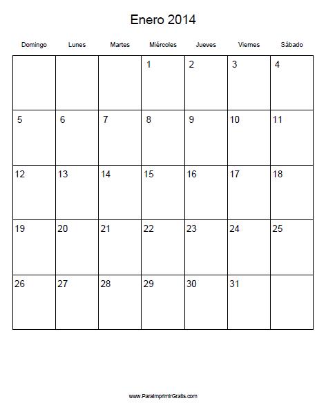 Calendario 2014 Imprimir Excel Calendario 2014 Para Imprimir