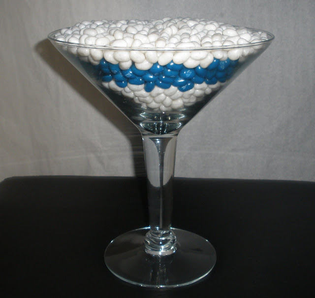 Rock Candy Filled Champagne Glasses: Anna's Edible Arrangements: Mr & Mrs Bates