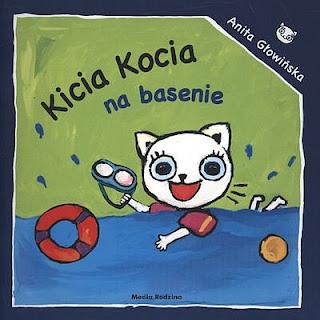 Anita Głowińska. Kicia Kocia na basenie.