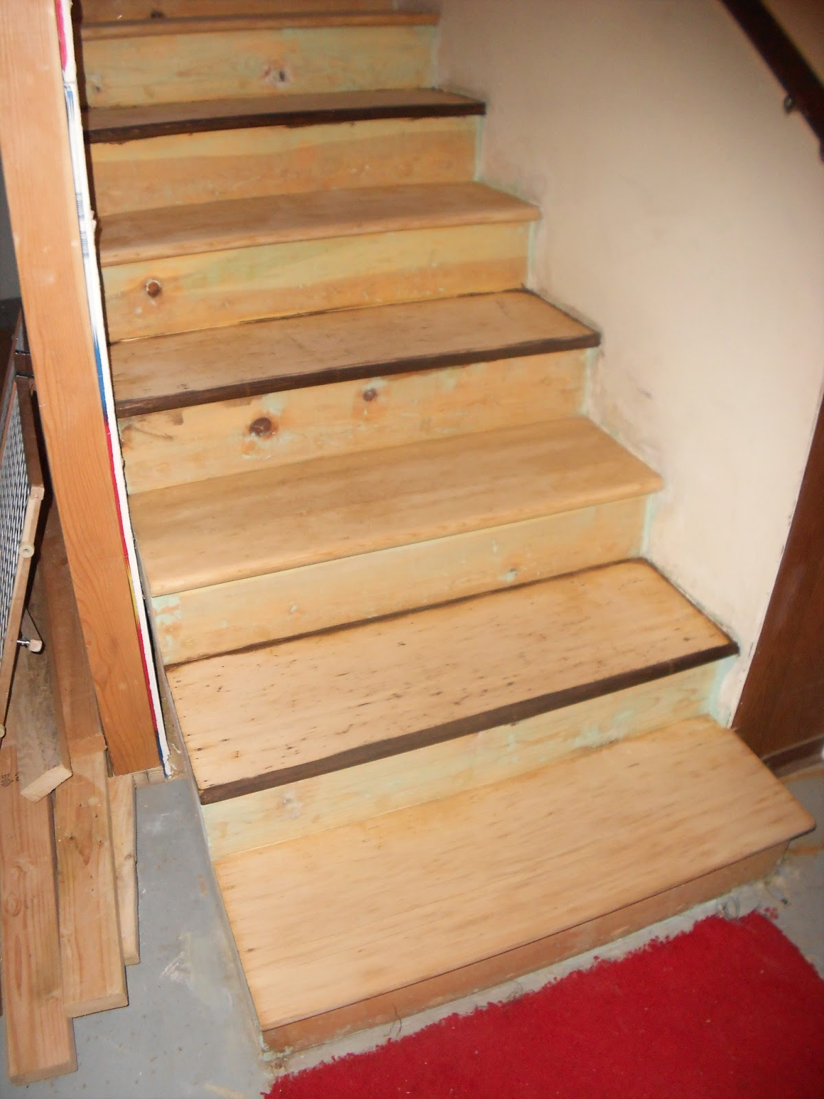 SO My Stairs Look Like This Before Staining.