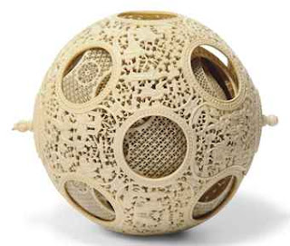 Chinese ivory puzzle ball, Massachusetts and New Hampshire collections