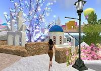 afbeelding van een straatje in de virtuele wereld Second Life