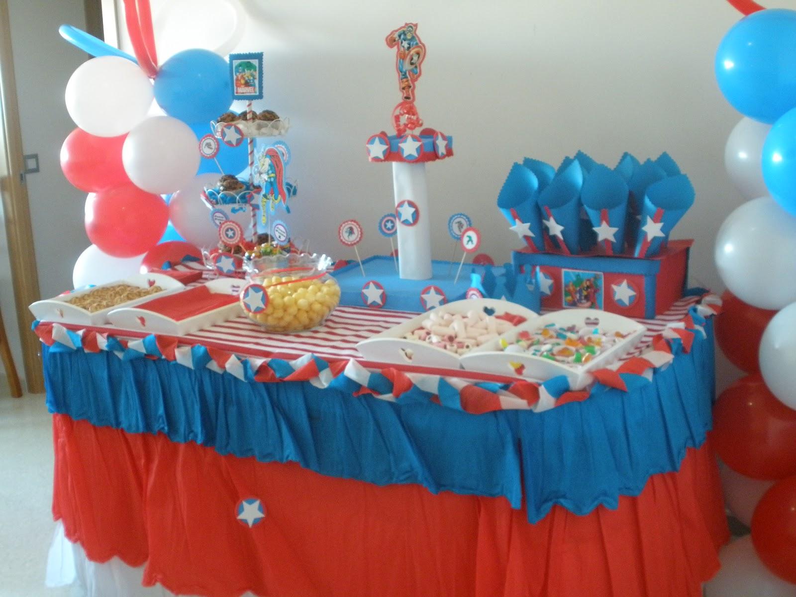 Decoracion De Fiestas Infantiles Los Vengadores Centros De Mesa | Apps