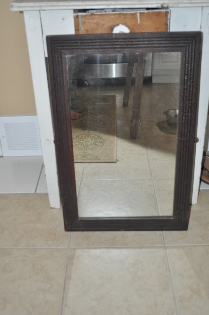 bathroom, antique mirror, sink, decor, mirror, alligatoring