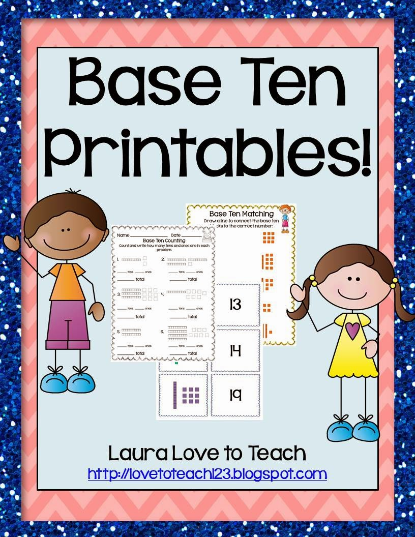 http://www.teacherspayteachers.com/Product/K-1-Base-Ten-Printables-1162600