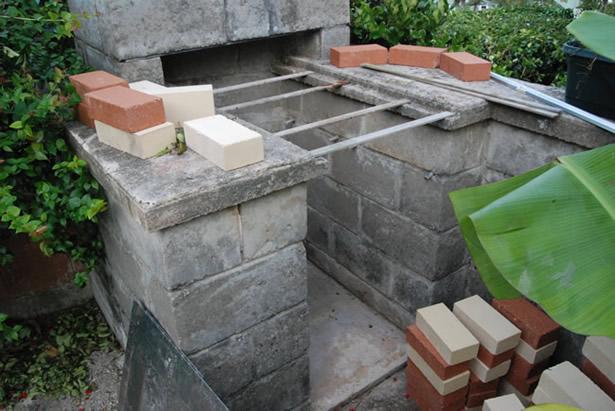 Brick driveway image brick bbq pit - Building an outdoor brick barbecue ...