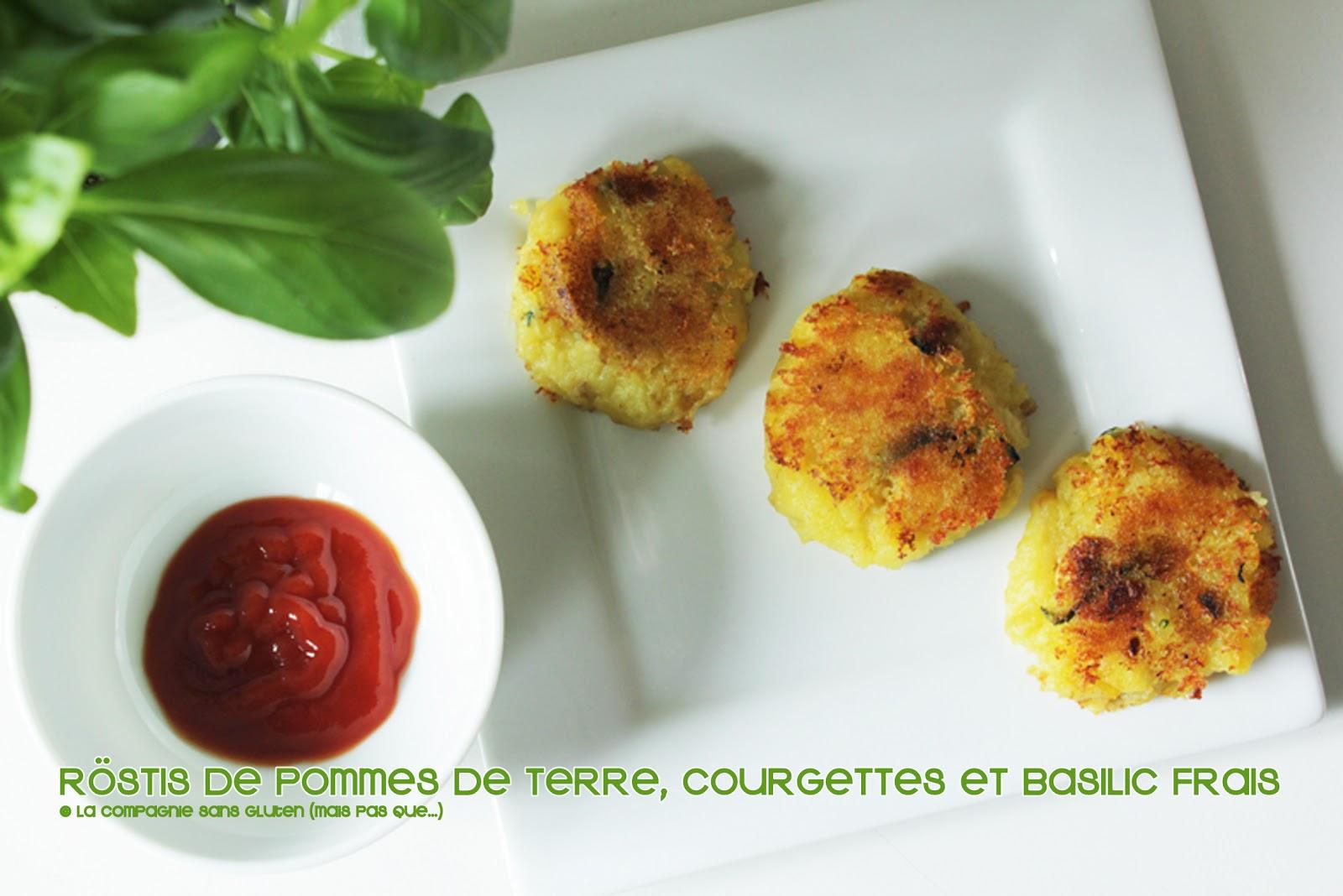 rostis aux pommes de terre courgettes et basilic frais sans gluten sans lait blogs de. Black Bedroom Furniture Sets. Home Design Ideas
