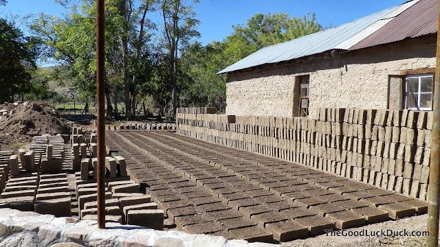 Making adobe bricks in Monticello, New Mexico
