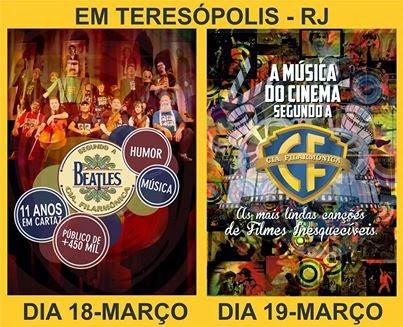 Shows da Cia Filarmonica de São Paulo em Teresópolis