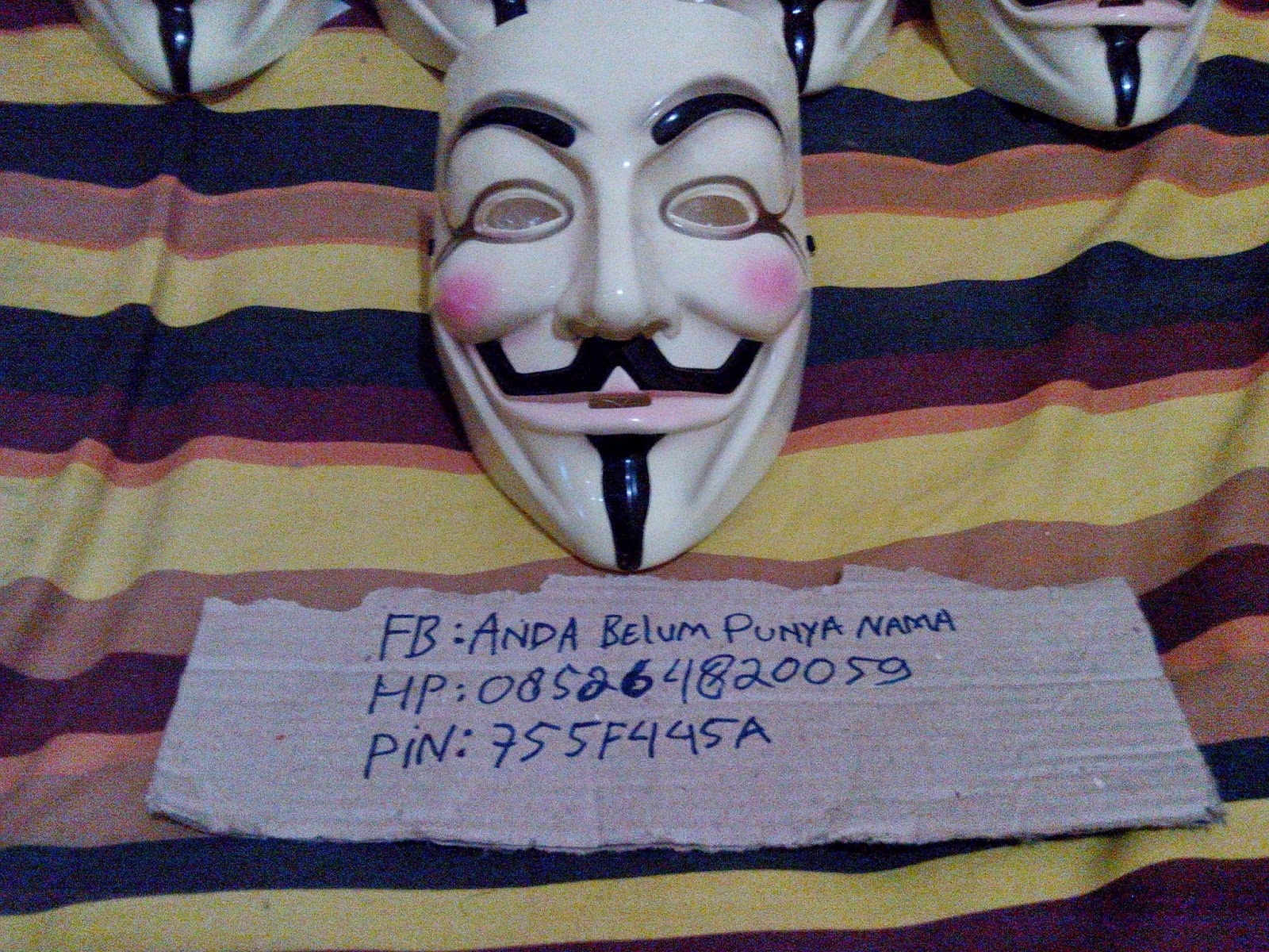 Jual Mask Anonymous V For Vendetta Ori Denmark murah