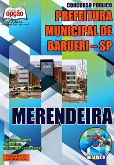 Apostila Concurso Barueri-SP 2015 para Assistente e Merendeira.