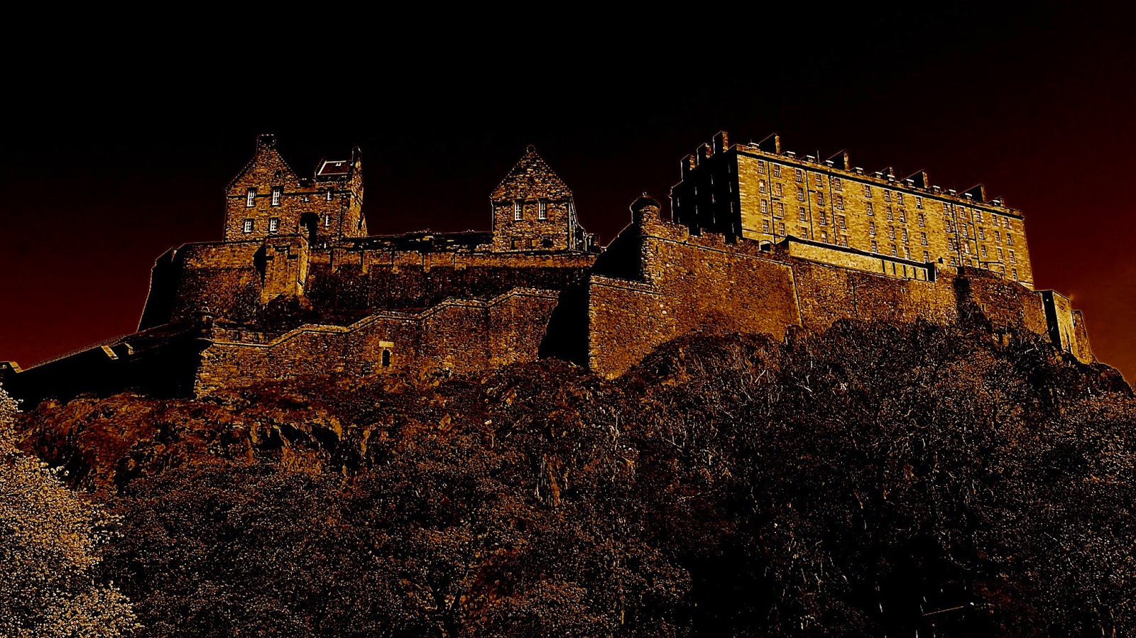 Haunted Edinburgh Castle sits atop a volcanic plug