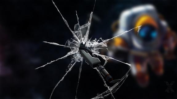 nautilus astronaut skin splash window screen crack league of legends