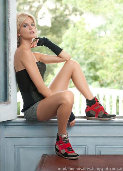 Lady Stork otoño invierno 2013 zapatillas con taco escondido