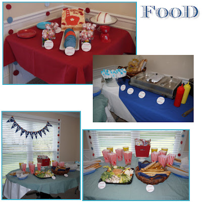 Food Tables and Dessert Table