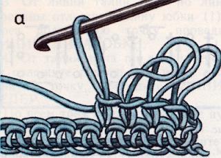 Вязание под мех крючком.