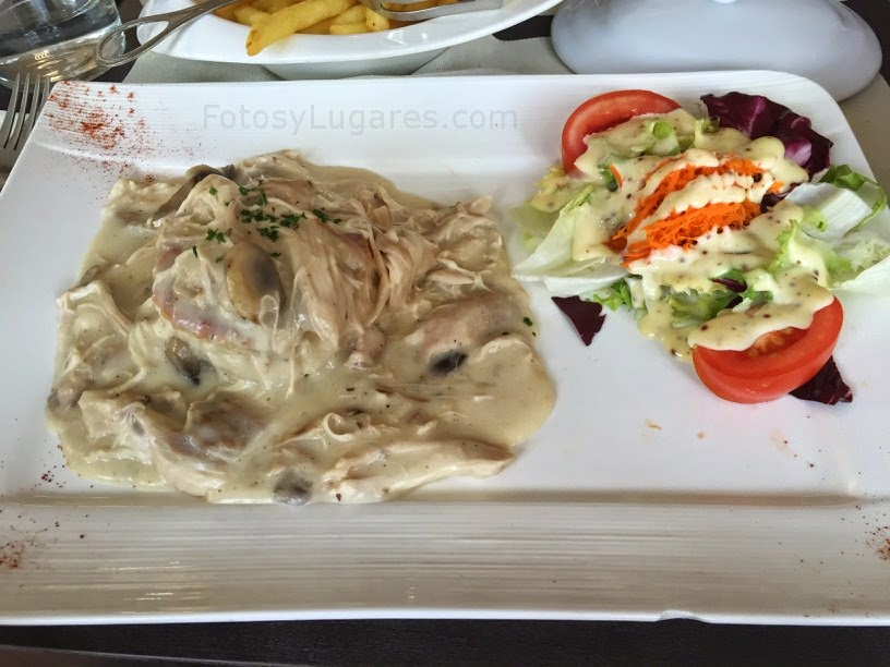 Volován con champiñones del restaurante Brasserie Belga